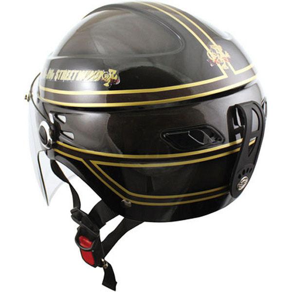 TNK工業 STR-Z JT vintage ヘルメット ブラック/ディープブラウン FREE(58-59cm) 511189 (直送品)