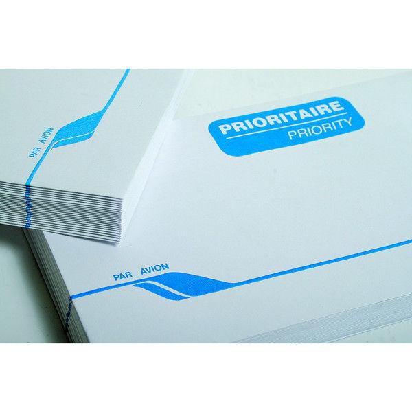 封筒 クレールフォンテーヌ エアーメール用 封筒(C6) 25枚パック 1セット(4パック) (直送品)