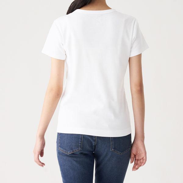 無印 汗じみしにくい半袖Tシャツ 婦人M