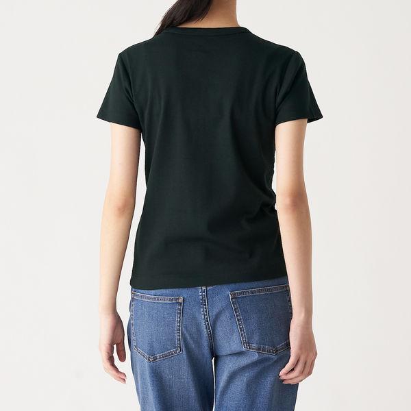 無印 汗じみしにくい半袖Tシャツ 婦人S