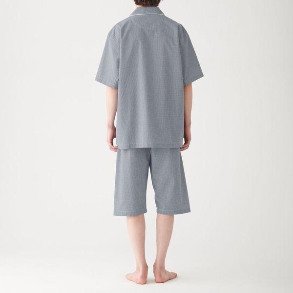 無印 サッカー織り半袖パジャマ 紳士 M
