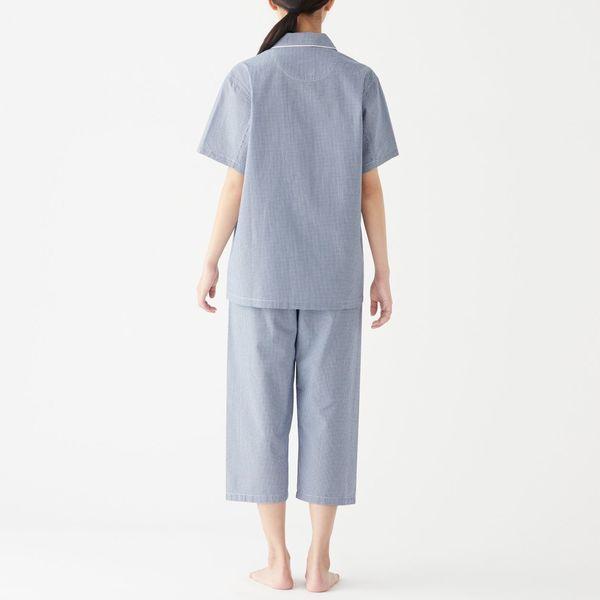 無印 サッカー織り半袖パジャマ 婦人 S