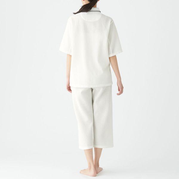 無印 ワッフル織り半袖パジャマ 婦人 S