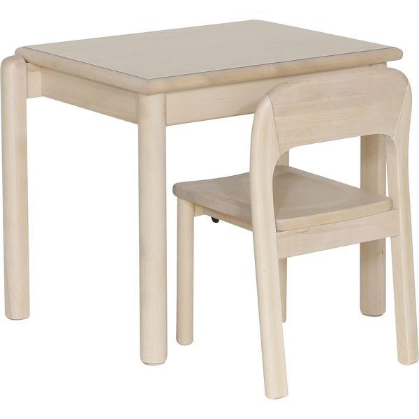 大和屋 コントラクトシリーズ まなびテーブル 幅682×奥行450×高さ530mm ナチュラルホワイト 2688 1台(取寄品)