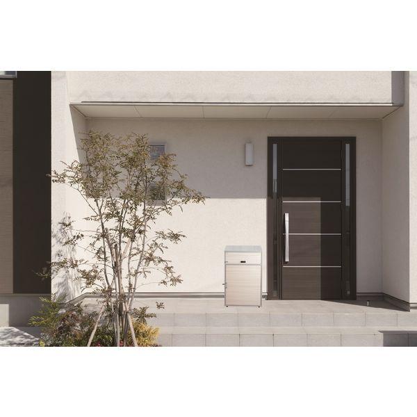 ケイ・ジー・ワイ工業 リシム 宅配ボックス ワイド 幅490×奥行375×高さ760mm シルバー/木目 THB-276 WD 1台(直送品)