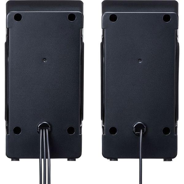 サンワサプライ USB電源マルチメディアスピーカー MM-SPL16UBK 1個(直送品)