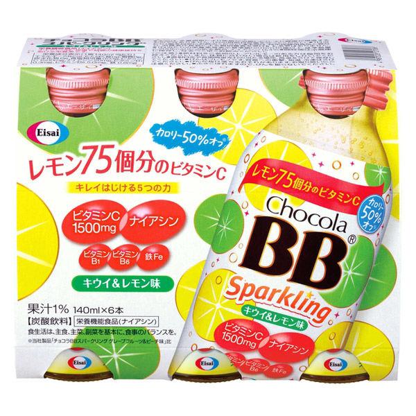 エーザイ チョコラBBスパークリングキウイ&レモン味 140ml 1本