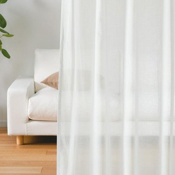 綿ボイルプリーツカーテン 丈198cm