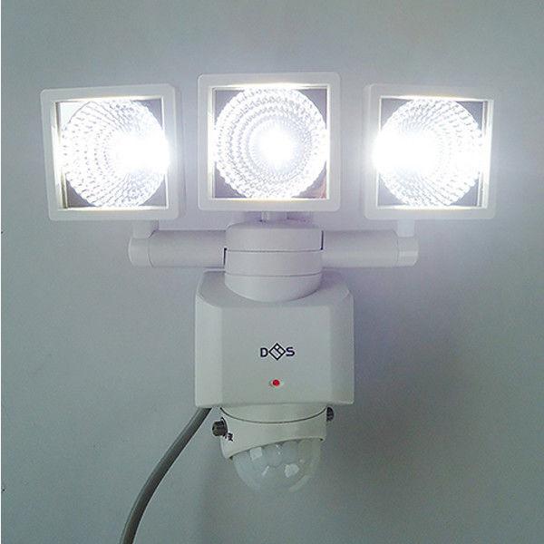 大進 AC LEDセンサーライト3灯式 DLA-3T400(直送品)