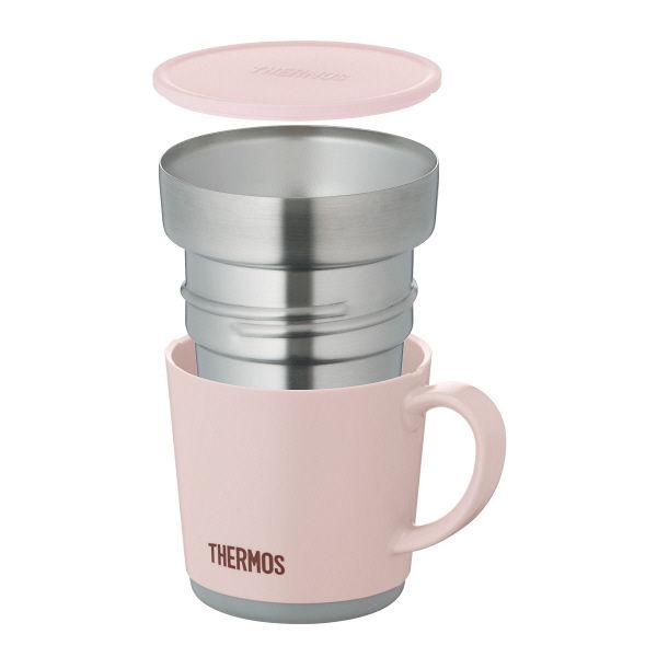 保温マグカップ 240ml ライトピンク