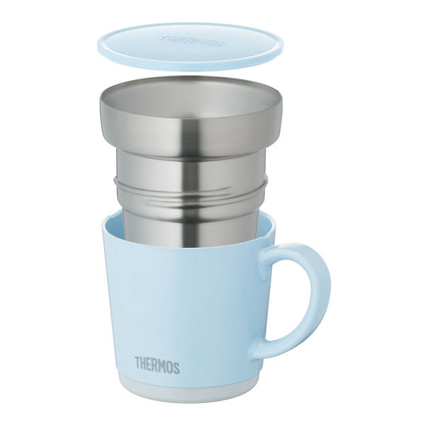 保温マグカップ 350ml ライトブルー