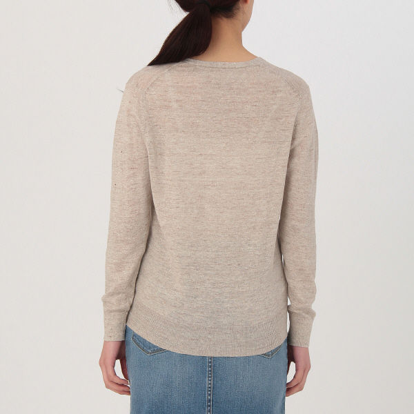無印 UVカットVネックセーター 婦人L