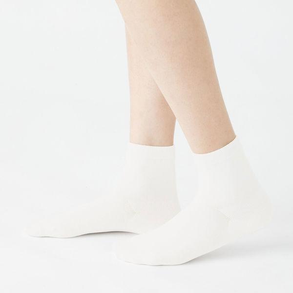 口ゴムなし三層 ショート丈靴下 婦人3足