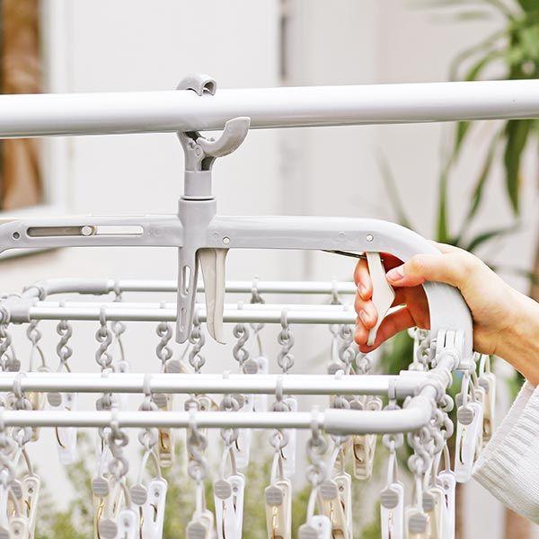 横もちアルミ洗濯ハンガー