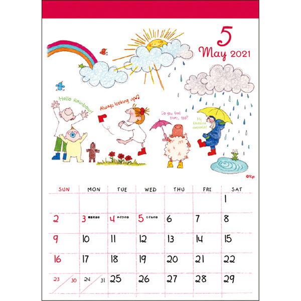 壁掛カレンダー ココ 360×260