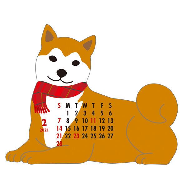 卓上カレンダー 日本犬 140×150