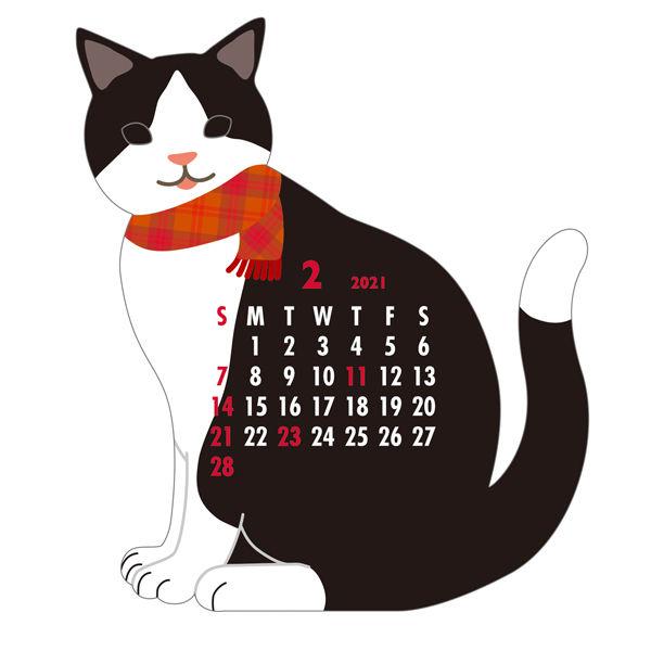 卓上カレンダー ねこ 150×140
