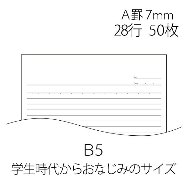 プラス レポート用紙 B5 A罫 RE-050A 76831 1袋(10冊入)