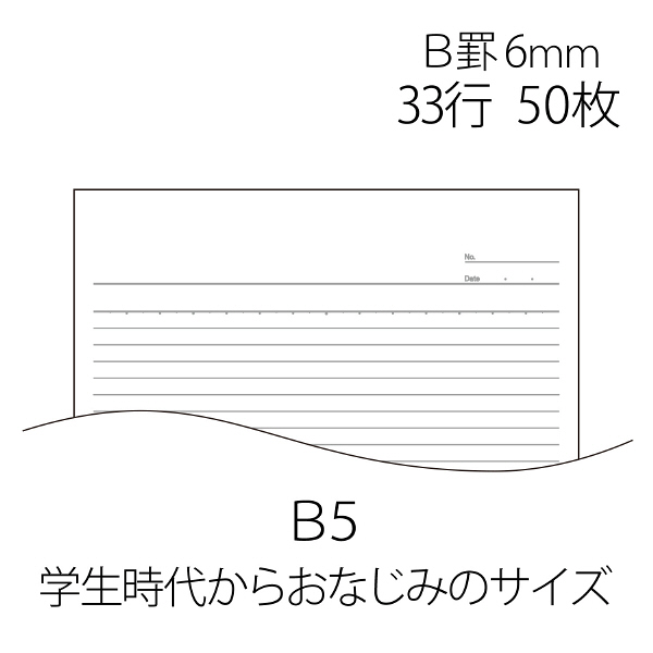 プラス レポート用紙 B5 B罫 RE-050B 76831 1袋(10冊入)