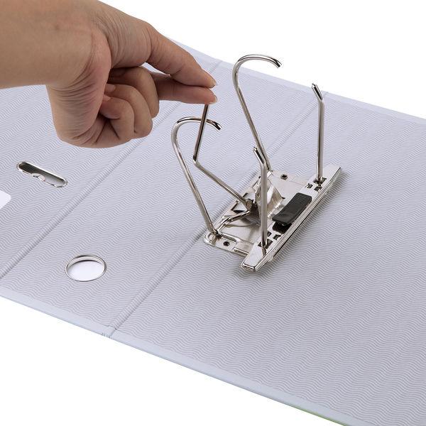 レバー式アーチファイル A4タテ 背幅100mm 5冊 グレー SGLAF100GY ハピラ とじ王