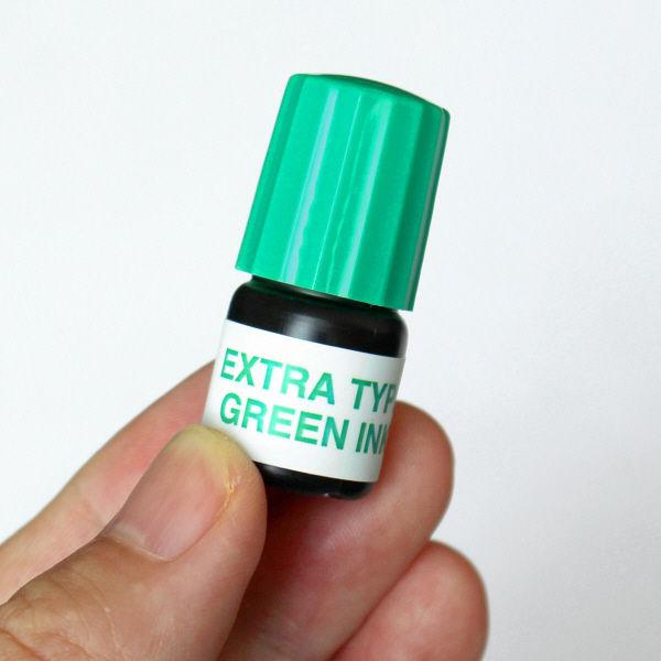 速乾タイプ専用補充インキセット インキ3ml+溶剤3ml 緑 1セット 谷川商事