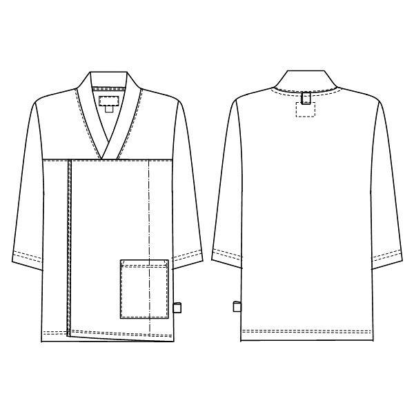 ナガイレーベン 検診衣上衣 ブルーL LK1436 (取寄品)