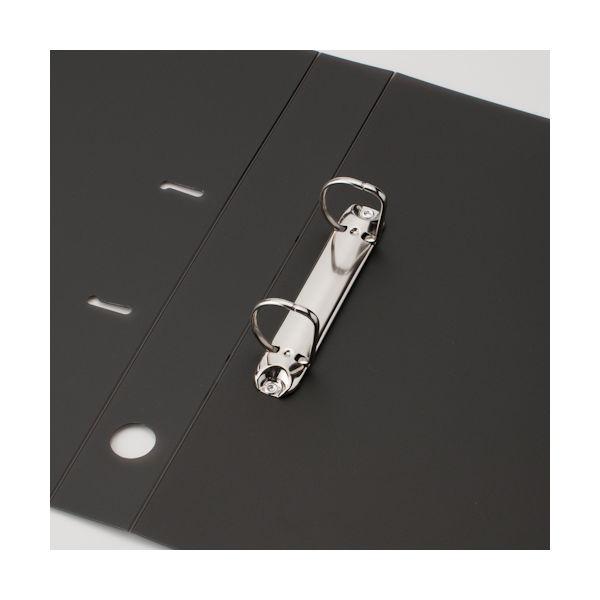 リングファイル D型2穴 A4タテ 背幅41mm 10冊 アスクル ユーロスタイル クリアブラック