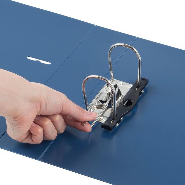レバー式アーチファイル A4タテ 背幅66mm 10冊 アスクル ユーロスタイル ブルー