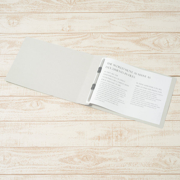 プラス フラットファイル樹脂製とじ具 A4ヨコ グレー No.022NW 1袋(10冊入) (直送品)