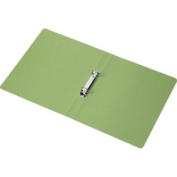 リングファイル 丸型2穴 A4タテ 背幅27mm 60冊 アスクル シブイロ グリーン