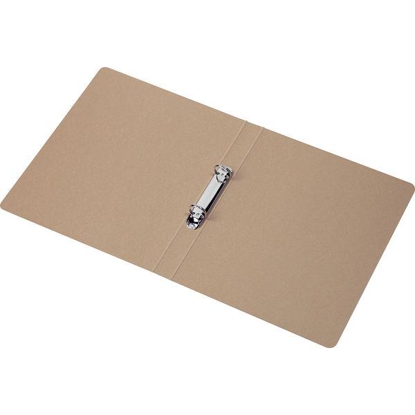 リングファイル 丸型2穴 A4タテ 背幅27mm 60冊 アスクル シブイロ ベージュ