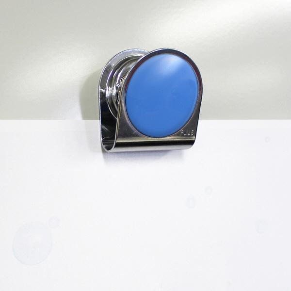 プラス カラーマグネットクリップ(大)ブルー 80561 1箱(10個入)