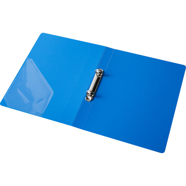アスクル リングファイル丸型2穴 A4タテ 背幅27mm ブルー 60冊