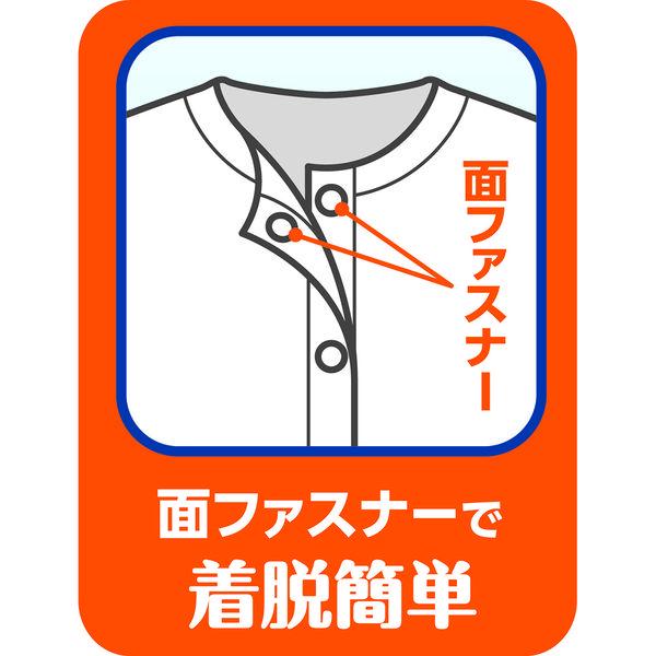 ワンタッチ肌着 八分袖 男性用 M 077-857110-00 1セット(3枚) 川本産業 (取寄品)