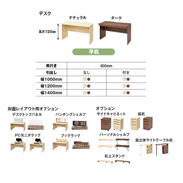 ユピタデスク キャビネット3段