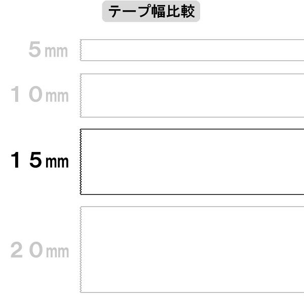 アスクル 両面テープカッターなし 幅15mm×20m