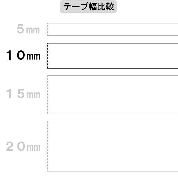 アスクル 両面テープカッターなし 幅10mm×30m