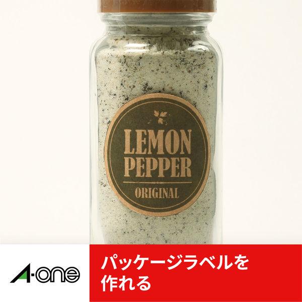 エーワン ラベルシール パッケージラベル プリンタ兼用 クラフト紙 ダークブラウン A4 12面 1袋(15シート入) 31743(取寄品)