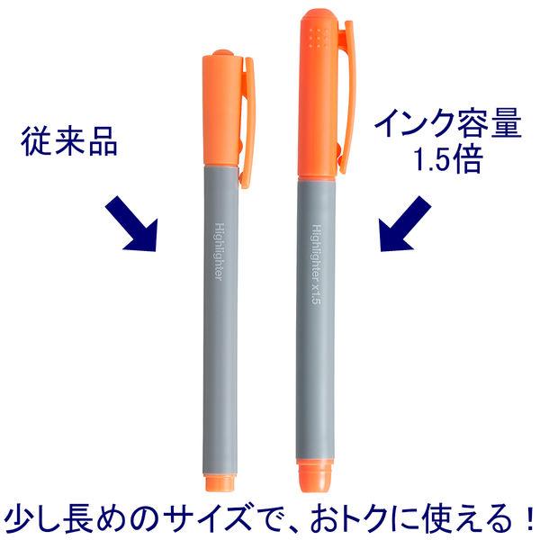 蛍光ペン インク1.5倍 オレンジ10本