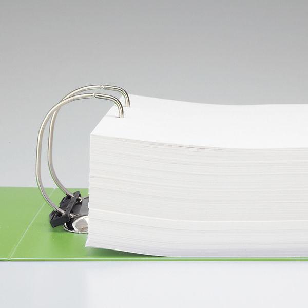 リヒトラブ D型リングファイル A4縦 750枚差し 黄緑 G2290-6 1箱(10冊入)