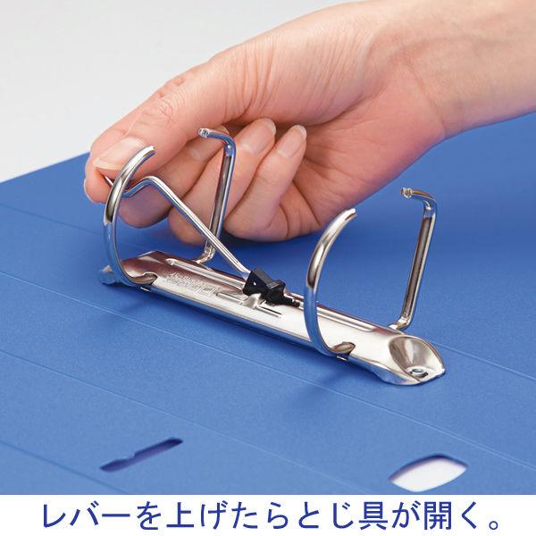 キングジム レバーリングファイルDタイプ A4ヨコ 背幅47mm 青 6883アオ 1箱(10冊入)