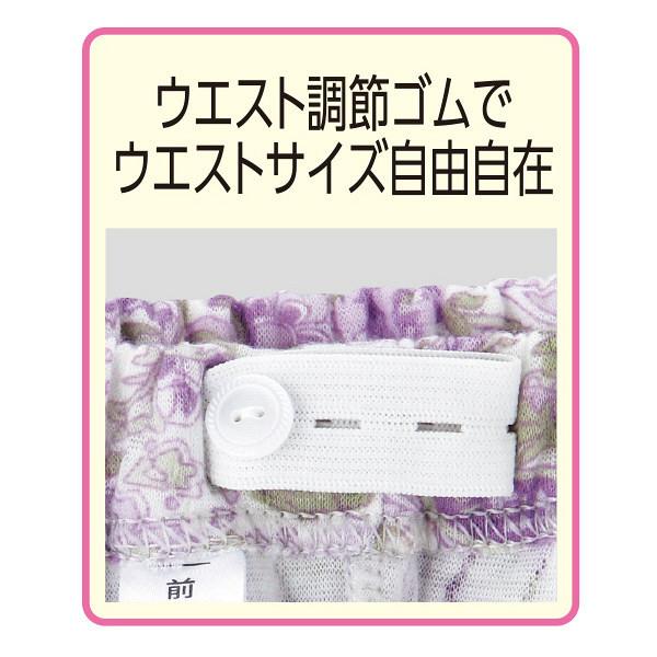 婦人キルト着脱簡単ボタンパジャマ パープル M 38634-11 1セット (取寄品)