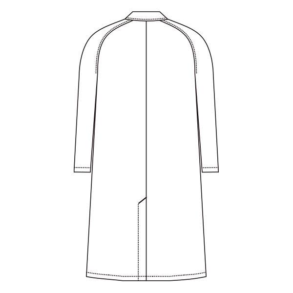 AITOZ(アイトス) メンズドクターコート(診察衣) 長袖 シングル ホワイト S 861311(直送品)