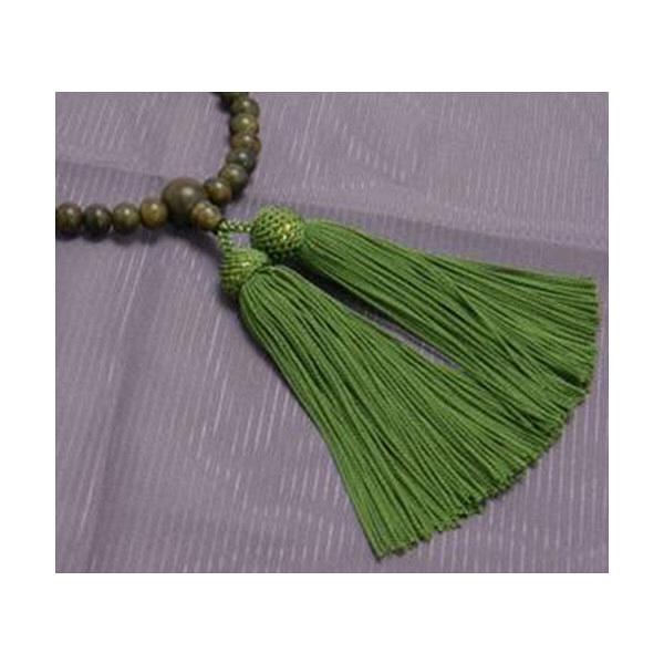 数珠 緑檀 尺二玉共
