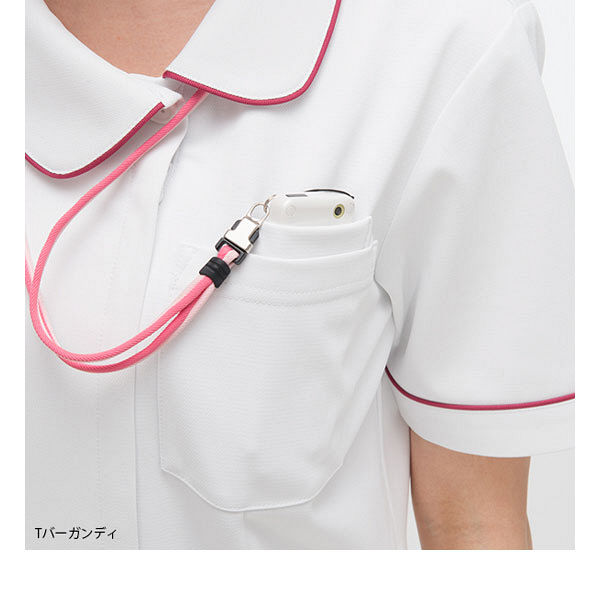 ナガイレーベン ナースジャケット 女性用 半袖 Tオレンジ EL HOS-4902 (取寄品)