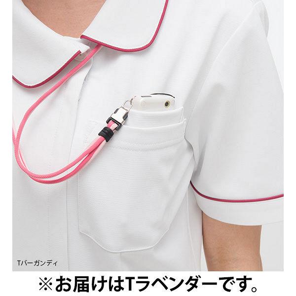 ナガイレーベン ナースジャケット 女性用 半袖 Tラベンダー EL HOS-4902 (取寄品)