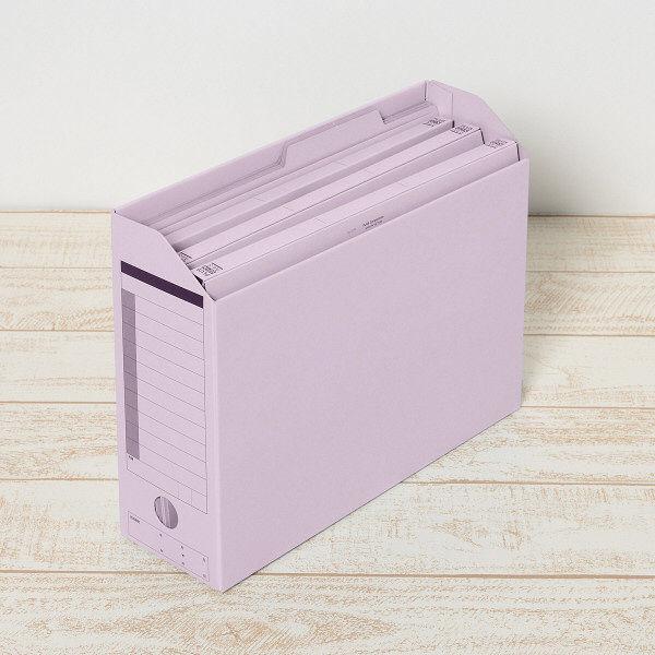 プラス ボックスファイル A4ヨコ バイオレット 78086