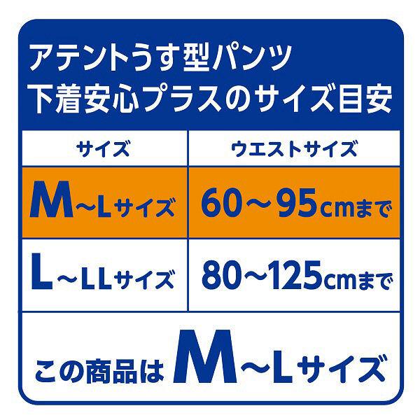 アテント下着安心プラス M~L