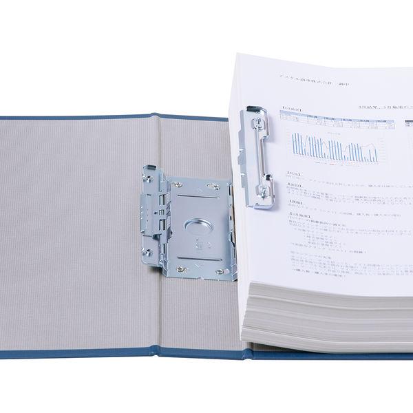 パイプ式ファイルA4 とじ厚50mm 青