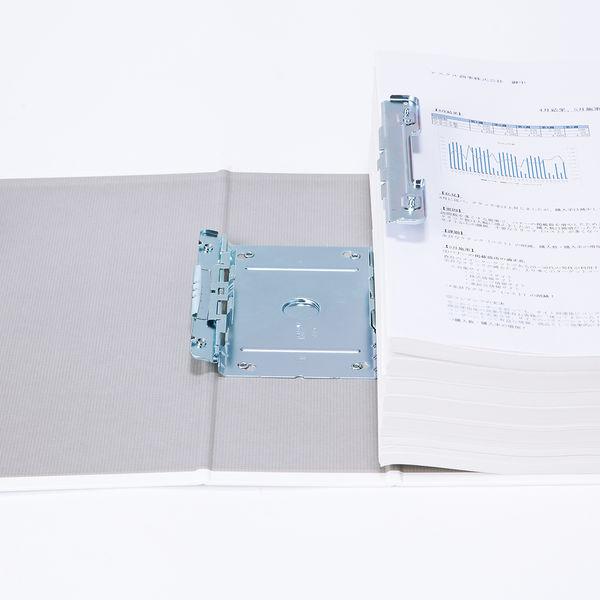 アスクル パイプ式ファイル(両開き) A4タテ とじ厚80mm ユーロスタイル ホワイト